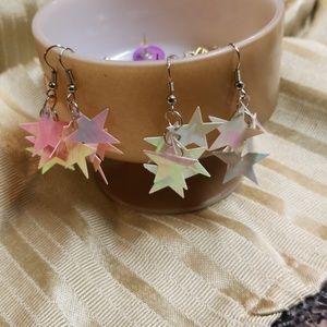 Sparkling pink earrings